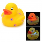 Flower Pattern Funny Floating Duck Bath Toy for Kids - Yellow