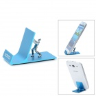 Samdi Creative Aluminum Alloy Desktop Holder Stand for Cell Phones / GPS / Tablet PC - Blue