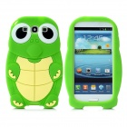 Cute Turtle Style Protective Soft Silicone Back Case for Samsung Galaxy S3 i9300 - Green