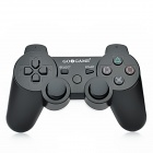 GOIGAME USB 2.0 Wired DoubleShock Game Joypad Controller for PS3 - White + Black (180cm-Cable)