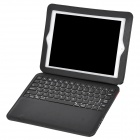 BK10-P Detachable PU Leather Cover Bluetooth V3.0 78-Key Keyboard for Ipad 2 / The New Ipad - Black