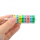 GuangHua 0911 Plastic Rotation English Letter Magnetic Cylinder Keychain - Multicolored