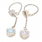 Cute Heart Voice I LOVE YOU Keychain for Couples - Silver (2 PCS)