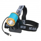 RUSTU D16 800lm 4-Mode White Bicycle Headlamp w/ Cree XM-L T6 - Blue + Golden (2 x 18650)