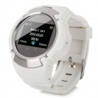 "PG66 Old Senior Kids GSM Watch Phone w/ 1.3"" Resistive Screen, Quad-Band and GPS Tracking - White"