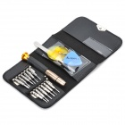 K-1247 16-in-1 Portable Disassembly Repair Tools for Cellphone - Black