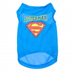 Cute Superman Style Dog Pet Apparel Clothes - Blue + Red + Yellow (Size: M)