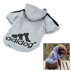 Adidog Fashion Pet Cat Dog Sportswear Clothes - Grey (Size XXL)