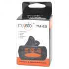 "MUSEDO TM-25 1.8"" LCD Plastic Clip-On Guitar Metronome Tuner - Black (1 x CR2032)"