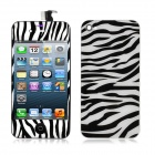 Zebra Style Replacement LCD Touch Screen w/ Back Cover + Assembly Tool for iPhone 4S - Black + White