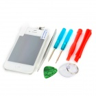 Replacement LCD Touch Screen w/ Screen Guard / Repair Tool Kit for iPhone 4 - White