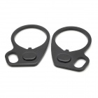 Strap Sling Aluminum Alloy Adjuster for M4 Series Gun - Black (2 PCS)