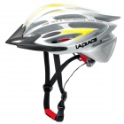 Laplace A5 Cool Outdoor Bike Bicycle Cycling Helmet - Silver + Yellow (56~62cm)