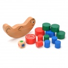 Cute Seal Shape Base w/ Cylinder for Family Game Playing - Tan + Red + Blue + Green