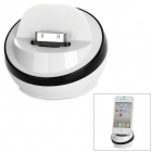 USB-30P Charging Docking Station w/ USB Cable for iPhone 4 / 4S - White + Black