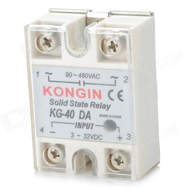 SSR-40DA Single Phase Solid State Relay - White + Silver askent s 7 1 tx