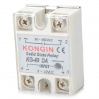 SSR-40DA Single Phase Solid State Relay - White + Silver