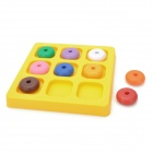 Nibobo 851531 9-Color Flat Beads IQ Logic Puzzle Game - Multicolored