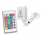 001 12V 24-Key Infrared IR Remote Controller - White (1 x CR2025)