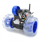ZhengCheng 333-WL006 Rechargeable 6-CH Radio Control Stunt R/C Car w/ Music / Light - Black + Blue