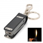 Baicheng BCZ103-5 Multifunctional Portfolio Tools Stainless Steel Butane Lighter w/ Key Ring - Black
