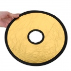 Collapsible Mid-sized Flash Reflector Board - Silver + Golden (30CM- Diameter)