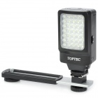 TOPTEC DV 35 2.2W 140lm 6000K 35-LED Video Light w/ Stand for Digital SLR - Black