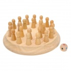 GuoGuoShu Wood Memory Chess Brain Teaser Game - Multicolored