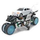 Zhengcheng 333-CL23B Rechargeable 4-CH Radio Control Drift Stunt R / C Car w / Musik / Light - Silber