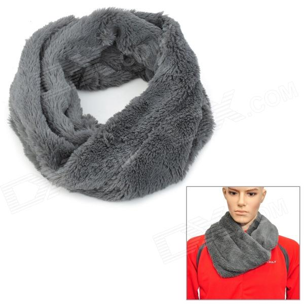 Universal Men's Plush Warm Scarf - Grey