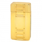Watch Style Windproof Butane Lighter w/ LED Light - Golden
