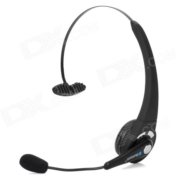 BTH-003 Stylish Bluetooth v2.1 Headband Headset w/ Microphone - Black + Silver hl good quality original wireless headset bluetooth headphone headband headset with fm tf led indicators for iphone cell phone