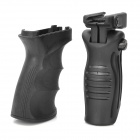 Grip + 20mm Rail Mount Set for Airsoft AK - Black