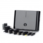 Portable Dual USB 12000mAh External Battery Power Bank w/ 8 Charging Adapters - Black
