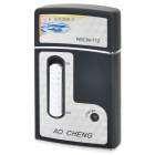 AO CHENG RSCW-712 Electric Washable 1-Shaver Head Reciprocating Vibrating Razor - Black + Silver
