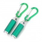 Outdoor Camping Portable 50lm LED White Zooming Flashlights - Green + Silver (2 PCS / 6 x LR44)