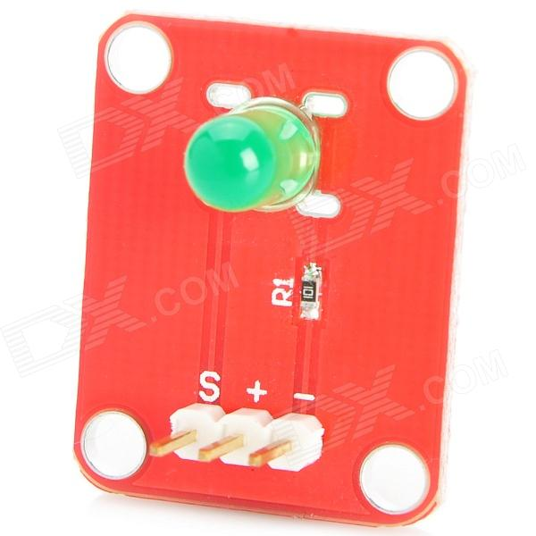OJ-XM1125 DIY Green Light LED Module for Arduino (Works with Official Arduino Boards) oj cg316 new tilt sensor module for arduino works with official arduino boards