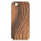 Wood Grain Protective Plastic Case for iPhone 5 - Brown