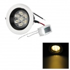  7W 420lm Warm White Light LED Ceiling Down Light w/ LED Driver - White (AC 86-265V) 