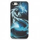 Dragon Pattern Protective Luminous Back Case for iPhone 5 - Black + Blue