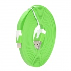 USB Data / Charging 8-Pin Lightning Flat-Kabel für iPhone 5 / iPad Mini / iPad 4 - Grün (300cm)