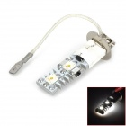 Highlight H3 12W 600lm 4-SMD 7060 LED White Light Car Headlamp / Foglight - (DC 12V)