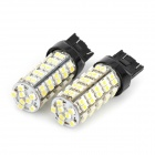 T20 4W 272lm 68-SMD 1210 LED White Light Car Steering / Brake light - (DC 12V / 2 PCS)