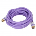 1080P HDMI 1.4 Male to Male Flat Cable - Purple + White (5m)