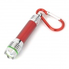 7000K LED Cool White Crown Head Flashlight Keychain - Red + Silver (4 x LR44)