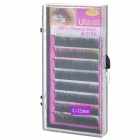 Stars Colors A-1103-12 Artificial Marten Hair False Eyelashes for Beauty Makeup - Black (8 PCS)