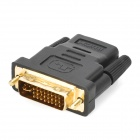 HDMI v1.4 Male to Male Connection Cable w/ HDMI Female to 24+5 DVI Male Adapter - Black (153cm)