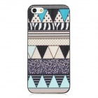Cotton Prints Pattern Protective Plastic Back Case for Iphone 5 - Blue + White + Black