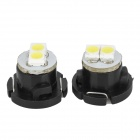 T4.7 0.18W 12lm 12000K 2-SMD 3528 LED Cool White Light Car Instrument Lamp - (DC 12V / 2 PCS)