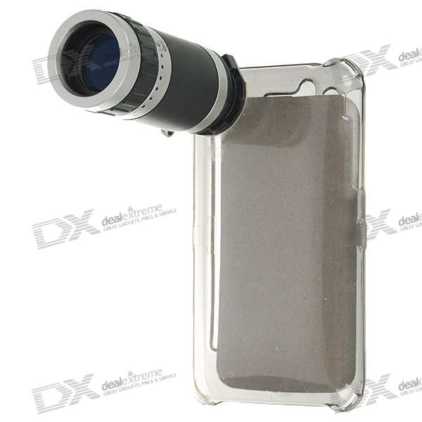6x18 Digital Camera 6X Telescope Lens with Crystal Case for Iphone 3g